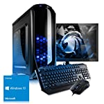 Kiebel Komplett Set [184142] - Gaming Bundle (Maus, Tastatur, 60cm TFT) Gamer PC AMD Ryzen 7 1700X (8x3.4GHz) 16GB DDR4-2666, 240GB SSD + 2TB HDD, NVIDIA Geforce GTX 1060 6GB, ASUS, DVD, Cardreader, Sound, WLAN , Win10, Gaming Computer, Spiele-PC