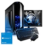 Kiebel Komplett Set [184142] - Gaming Bundle (Maus, Tastatur, 60cm TFT) Gamer PC AMD Ryzen 7 2700 (8x3.2GHz) 16GB DDR4-2400, 240GB SSD + 2TB HDD, NVIDIA Geforce GTX 1060 6GB, ASUS, DVD, Cardreader, Sound, WLAN , Win10, Gaming Computer, Spiele-PC