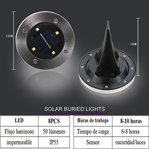 Luces-Solar-de-Tierra-Luz-8-pcs-LED-para-Exterior-Energa-Solar-IP55-50LM-Impermeable-Lmpara-de-Jardn-Luces-solares-Exterior-al-Aire-Libre-para-Patio-Camino-Entrada-Clase-de-eficiencia-energtica-APACK-
