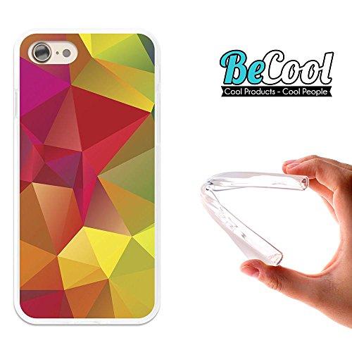 BeCool®- Coque Etui Housse en GEL Flex Silicone TPU Iphone 8, Carcasse TPU fabriquée avec la meilleure Silicone, protège et s'adapte a la perfection a ton Smartphone et avec notre design exclusif. Col L1016