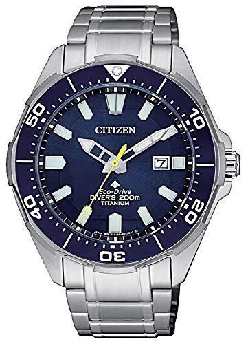 Citizen promaster diver 200 mt eco drive super titanio bn0201-88l orologio da polso uomo