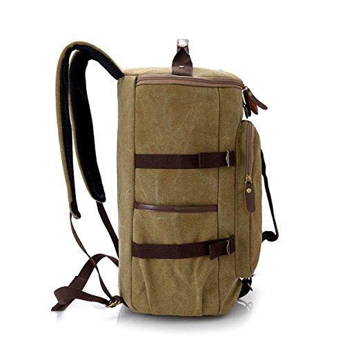 BULAGE Taschen Lässig Schultern Mode Studenten Schultaschen Natur Reisen Leinwand Männer Rucksäcke Persönlichkeit Einfach Computer Khaki