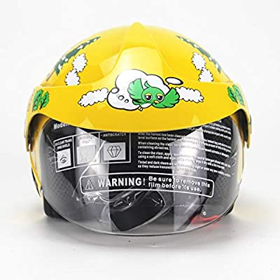 LOLIVEVE Four Seasons Children'S Helmet Motorcycle Harley Battery Car Boys And Girls Children'S Safety Helmet Autumn And Winter. by LOLIVEVE