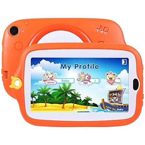 Fulltime E-Gadget 7 Zoll Kinder Android 4.4 Tablet PC,512MB+ 8G Quad-Core WiFi Kamera Kinder Geschenk Tablet PC (Orange)