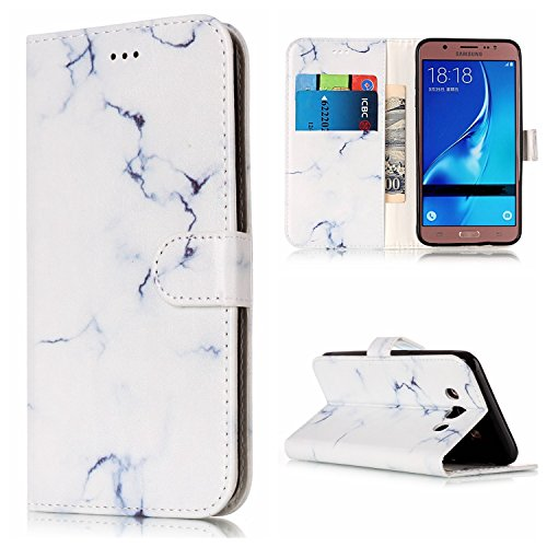 Für Samsung Galaxy J510 Horizontale Flip Case Cover Luxus Blume / Marmor Textur Premium PU Leder Brieftasche Fall mit Magnetverschluss & Halter & Card Cash Slots ( Color : H ) D