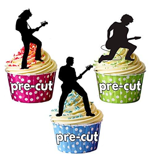 risten Silhouette-essbar Stand-up Cupcake Topper (Pack von 12) ()
