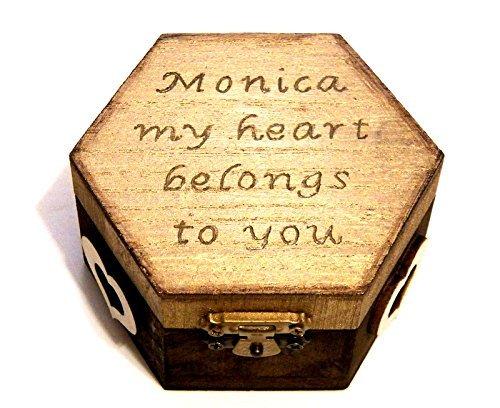 Holz Ring Kasten, Vorschlag Ring-Kasten, Valentines, Hochzeits Geschenk Box, Ring-Träger, Trauring-Halter, Träger Box (Geschenk Für Ring-träger)