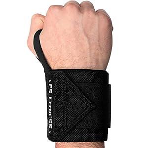 Handgelenkbandage [2er Set] Wrist Wraps – Profi Bandagen für Fitness, Bodybuilding, Crossfit, Krafttraining – 45 cm (18″) – Für jedes Handgelenk passend