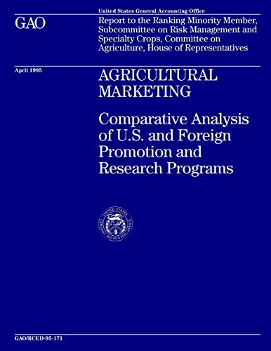 Agricultural Marketing: Comparative Analysis of U.S. and Foreign Promotion and Research Programs