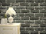 Auténtica piedra pared realista efecto sintética en relieve con textura papel pintado efecto ladrillo marrón blanco antiguo rústico erosionado blanco