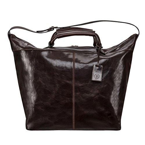 Pellevera Alesso sac de Voyage italienne en cuir bagage à main (brun) 8fnjMkfk