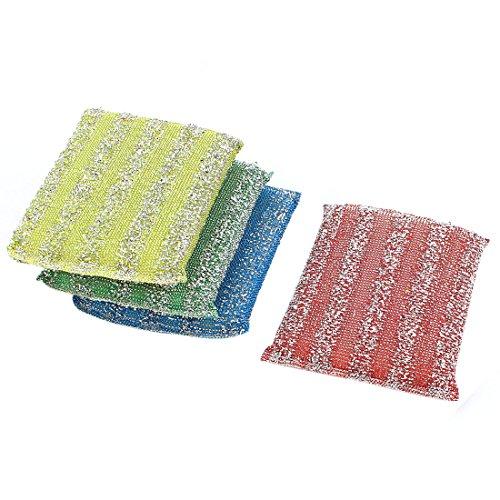 sourcingmapr-eponge-cuisine-bol-plat-pot-lave-recurer-nettoyage-dosettes-4pcs-multicolore