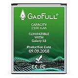 GadFull Akku kompatible mit Samsung Galaxy S3 | 2018 Baujahr | Entspricht dem original | Lithium-Ionen-Akku Kompatible mit Galaxy S3 i9300 | Galaxy S3 LTE i9305 | Perfekt als Ersatz-Akku
