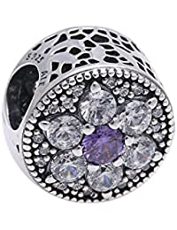 Pandora Damen-Charm Vergissmeinnicht 925 Zirkonia lila-791832ACZ