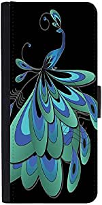 Snoogg Peacock Feather Designer Protective Phone Flip Case Cover For One Plus X