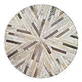 Décoration de sol de meubles Tapis en cuir cousu à la main, chaise européenne...
