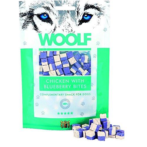 hu.snack/WOOLF Bocconcini di pollo e mirtilli 100gr - Snack per cani
