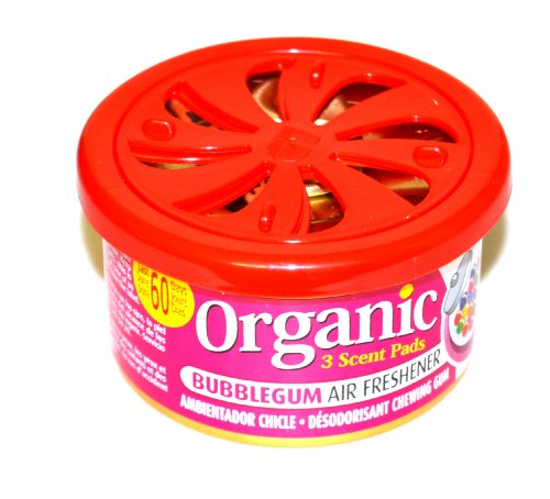 Organic Scents Cans for Cars Duftdose Bubble Gum Lufterfrischer - Kaugummi 38g