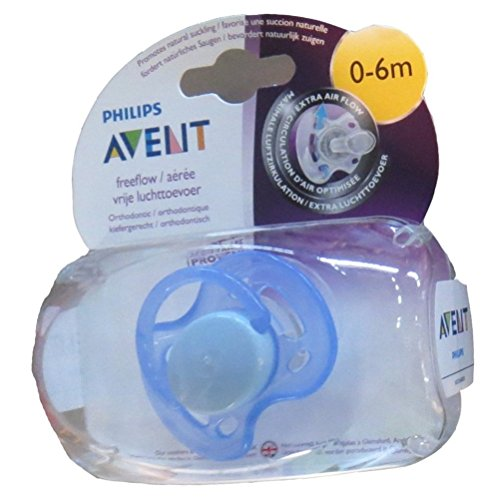 Philips Avent Soother Fast Flow - 0 to 6 months (Single Pack) (Color may Vary)