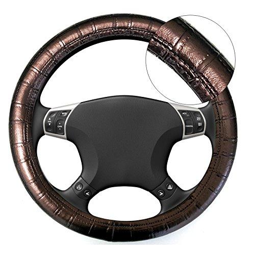 Akhan lb21–Coprivolante, marrone per tutti i tipi di volante 37cm–39cm