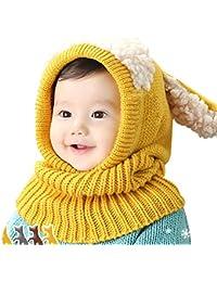 e14e9ca1dde Berax 2018 New Kids Bébé Hiver Lapin Chapeaux Beau Infant Toddler Fille  Garçon Bonnet Casquette Chaud Bébé Chapeau À Capuchon Tricoté…