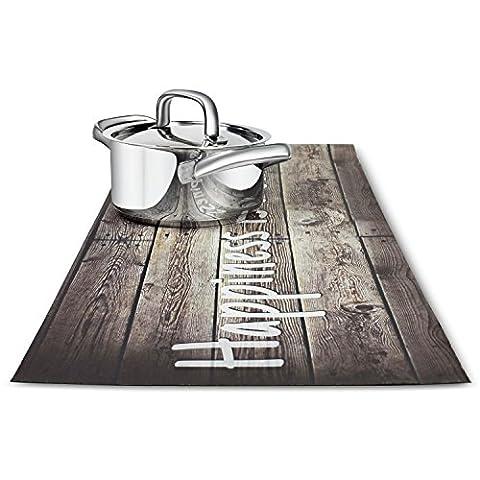 Trivetrunner: Dessous de Plat et chemin de table–Décoration Table de Cuisine Décor Protège les Plans de travail et surfaces à partir de plaques chauffantes, casseroles et vaisselle–Design, rustique en bois antidérapant