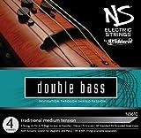 D\'Addario Bowed Jeu de cordes traditionnel pour contrebasse D\'Addario NS Electric, manche 3/4, tension Medium