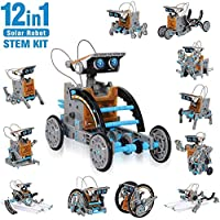 Innoo Tech STEM 12-in-1 Education Solar Robot Toys -190 Pieces DIY Building Science Experiment Kit for Kids, Robotics Creative Science Puzzle Toys for Teens, Solar Powered by The Sun