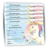12 Einladung zum Geburtstag Kinder Kindergeburtstag Einhorn Einladungskarten Party
