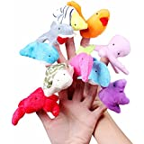 10 Pcs/Set Plush Toy Sea Animal Finger Puppets Children Educational Soft Toys Ocean Animal Doll