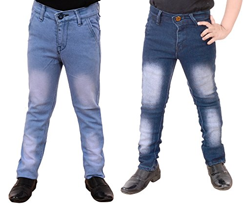 Guchu Boys Jeans Combo, Pack of 2(A5-IB-LB-B-32)