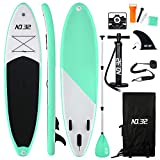 Tabla Hinchable de Paddle Surf + SUP Paddle Remo de Ajustable | Bomba | Mochila...