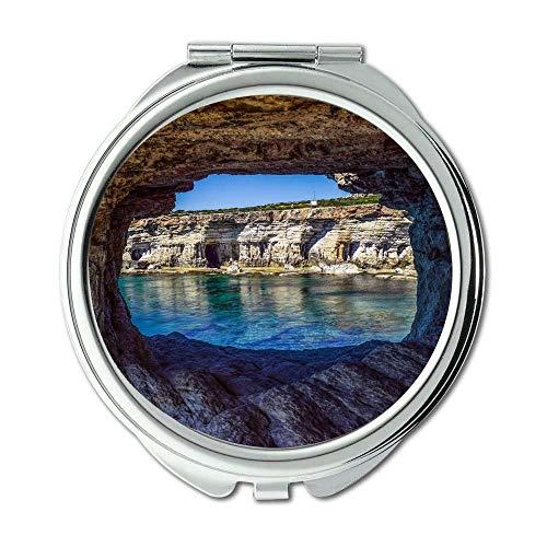 Yanteng Spiegel, Schminkspiegel, Strandhöhle Cavo Greco, Taschenspiegel, tragbarer Spiegel