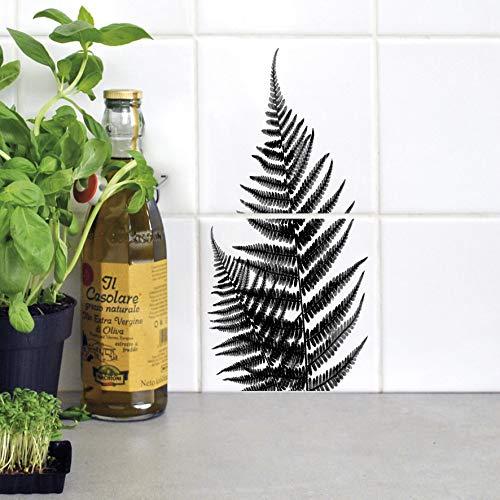 Boubouki - Wasserabweisende Fliesenaufkleber für Bad und Küche - Farn Poster - 15x15cm, Opaque -