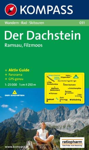 Der Dachstein, Ramsau, Filzmoos: Wandern / Rad / Skitouren. Mit Panorama. GPS-genau. 1:25.000