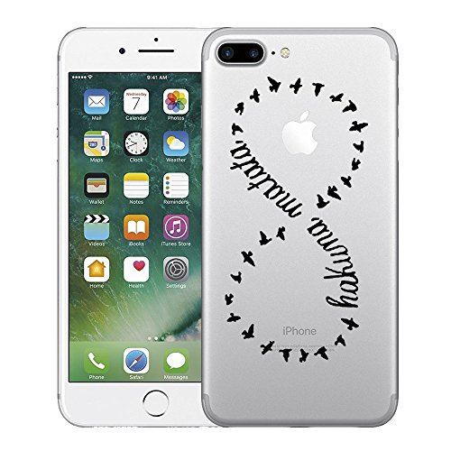 Coque iPhone 7 Plus,Vanki® Modèle simple Housse Transparente Housse TPU Souple Etui de Protection Silicone Case Soft Gel Cover Anti Rayure Anti Choc pour Iphone 7 Plus 8 numérique