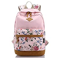 BBWAY Canvas Lightweight Student Backpacks for Girls School Bags