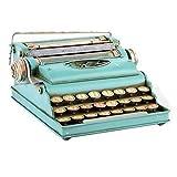 Indhouse-Vintage Schreibmaschine Dekorative Metall blau für Dekoration