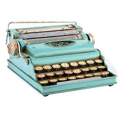 Indhouse - Máquina de escribir decorativa de metal azul para