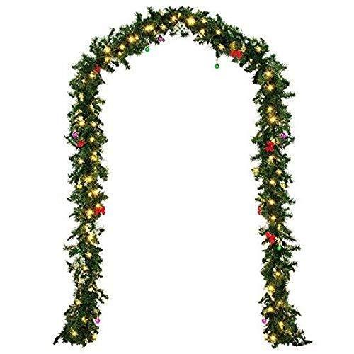 TIREOW_Weihnachten Lichter, 2,7M 160 Niederlassungen LED Rattan Lichterkette, Dekoration für Hochzeit, Party, Geburtstag, Haus, Garten, Wohnzimmer, Terrasse Rasen