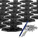Trevendo® 40 Stück Stelzlager 18-31 mm inkl. Zubehör