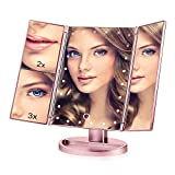 730 HOUSE Lighted Makeup Mirror 24 LED Lights 3X / 2X Magnifying Touch