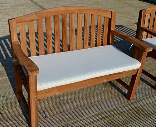 2 posti (1,1 m/91,44 cm) lusso cuscino per panchina da giardino con imbottitura di alta qualità e tessuto - cuscino solo - Natural