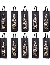10 bolsas para botellas, bolsas de regalo para vino, prosecco y champán 40 x