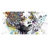 QQA Pintado a Mano Pintura Lienzo Resumen Color Patrón de Belleza Moderno Pared de Arte Bar Decoración,60 * 120cm/23.62in*47.24in