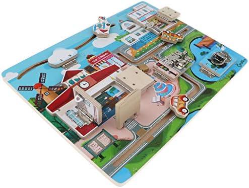 KESOTO Jigsaw en Bois Puzzle Verrouillage pour  s Jouet Educatif Préscolaire | Réputation D'abord