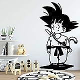 Son Goku Dragonball Wandaufkleber Dekoration Kinderzimmer Dekor Kunst Wandtattoos Wandsticker, 43cm X 74cm