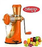 #9: Slings Smart High Quality Fruit & Vegetable Juicer With Steel Handle Orange