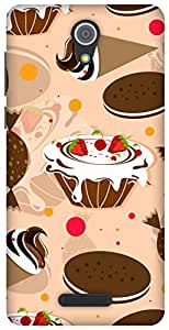 The Racoon Grip printed designer hard back mobile phone case cover for Gionee Marathon M4. (Beige Cake)