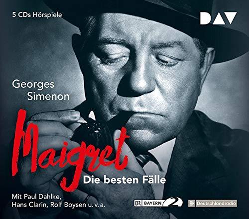 Maigret – Die besten Fälle: Hörspiele mit Paul Dahlke, Hans Clarin u.v.a. (5 CDs)